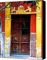 Tlaquepaque Canvas Prints - Door in the House of Icons Canvas Print by Olden Mexico
