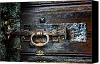 Rusty Door Canvas Prints - Door Latch Canvas Print by Joana Kruse