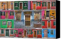 Venice Canvas Prints - doors and windows of Burano - Venice Canvas Print by Joana Kruse