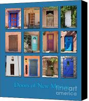Santa Fe Canvas Prints - Doors of New Mexico Canvas Print by Heidi Hermes