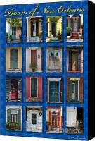 Shutters Canvas Prints - Doors of New Orleans Canvas Print by Heidi Hermes