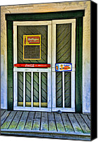 Screen Doors Photo Canvas Prints - Doorway To The Past Canvas Print by Kenny Francis