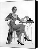1950s Fashion Canvas Prints - Dorothy Mcguire, Ca. 1950s Canvas Print by Everett