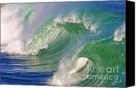 Surf Art Canvas Prints - Double Barrel Canvas Print by Paul Topp