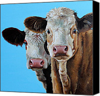 Cow Barn Canvas Prints - Double Dutch Canvas Print by Laura Carey