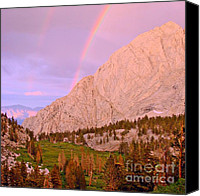Sierra Canvas Prints - Double Rainbow Canvas Print by Scott McGuire