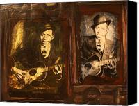 Johnson Mixed Media Canvas Prints - Double Robert Johnson Canvas Print by Doug Norton