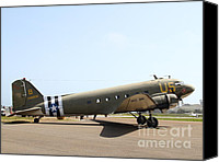 Warbird Photo Canvas Prints - Douglas C47 Skytrain Military Aircraft 7d15788 Canvas Print by Wingsdomain Art and Photography