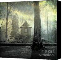 Bare Tree Canvas Prints - Dovecote Canvas Print by Bernard Jaubert