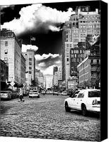 Unique Cars Canvas Prints - Downtown Cab ride Canvas Print by John Rizzuto