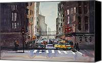 Ryan Radke Canvas Prints - Downtown Chicago Canvas Print by Ryan Radke