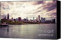 Sears Tower Canvas Prints - Downtown Chicago Skyline Lakefront Canvas Print by Paul Velgos