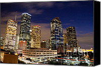 Skyline Canvas Prints - Downtown Houston at night Canvas Print by Olivier Steiner
