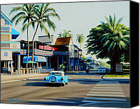 Lahaina Canvas Prints - Downtown Lahaina Maui Canvas Print by Frank Dalton