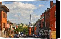 Featured Photo Canvas Prints - Downtown Lexington 3 Canvas Print by Kathy Jennings