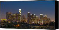 Downtown Los Angeles Canvas Prints - Downtown Los Angeles, California Canvas Print by Terence Lee