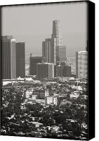 Downtown Los Angeles Canvas Prints - Downtown Los Angeles II Canvas Print by Ricky Barnard