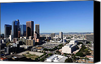 Downtown Los Angeles Canvas Prints - Downtown Los Angeles Canvas Print by Martina Thompson