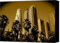 Downtown Los Angeles Canvas Prints - Downtown Los Angeles Canvas Print by Monique Wegmueller