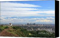 Downtown Los Angeles Canvas Prints - Downtown Los Angeles Canvas Print by Nicholas Burningham
