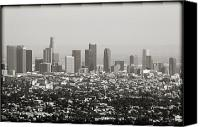 Downtown Los Angeles Canvas Prints - Downtown Los Angeles Canvas Print by Ricky Barnard