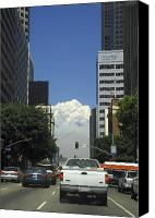 Downtown Los Angeles Canvas Prints - Downtown of Los Angeles Canvas Print by Viktor Savchenko