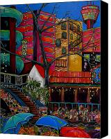 Riverwalk Canvas Prints - Downtown on The River Canvas Print by Patti Schermerhorn