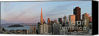 Northern California Photo Canvas Prints - Downtown San Francisco and Bay Bridge Canvas Print by Matt Tilghman