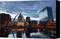 Saint Louis Canvas Prints - Downtown St. Louis at dawn Canvas Print by Sven Brogren