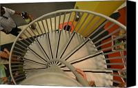 Spiral Staircase Canvas Prints - Downward Spiral Canvas Print by Waldo Carbo Jr