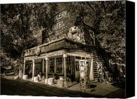 Sierra Canvas Prints - Doyle Grocery and Hotel Canvas Print by Scott McGuire