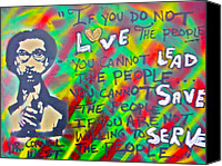 Conservative Painting Canvas Prints - Dr. Cornel West  LOVE THE PEOPLE Canvas Print by Tony B Conscious