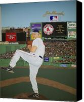Fenway Park Painting Canvas Prints - Dr. Hoss Canvas Print by Sandra Poirier