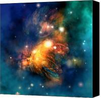 Portal Canvas Prints - Draconian Nebula Canvas Print by Corey Ford