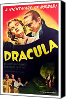 Horror Movies Canvas Prints - Dracula, Top From Left Helen Chandler Canvas Print by Everett