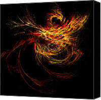 On Fire Canvas Prints - Dragon Fire Canvas Print by Paul St George