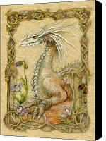 Fantasy Art Canvas Prints - Dragon Canvas Print by Morgan Fitzsimons