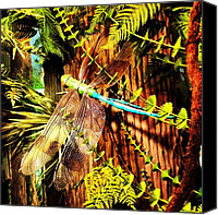 Dragonfly Canvas Prints - #dragonfly Canvas Print by Stephanie Thomas