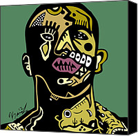 Popstract Canvas Prints - Drake full color Canvas Print by Kamoni Khem