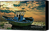 Wooden Boat Canvas Prints - Dramatic Dungeness Canvas Print by Meirion Matthias