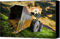 Construction Canvas Prints - Dramatic Loader Canvas Print by Meirion Matthias
