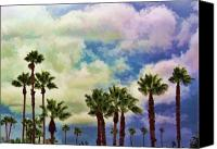 Potography Canvas Prints - Dramatic Palms Canvas Print by Arline Wagner
