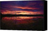 Chromatic Contrasts Canvas Prints - Dramatic Shot Of A Flamboyant Sky Canvas Print by Michael S. Quinton