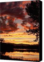 Custom Framed Art Canvas Prints - Dramatic Sunset Reflection Canvas Print by James Bo Insogna