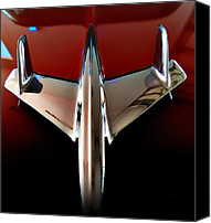 Speeding Chevrolet Canvas Prints - Dream - 55 Chevy Hood Ornament Canvas Print by Steven Milner