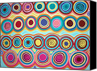 Aboriginal Art Painting Canvas Prints - Dream Circles Canvas Print by Karla Gerard