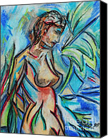 Galleria Drawings Canvas Prints - Dream Girl 98 Canvas Print by Bradley Bishko