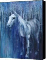 Horse Painting Canvas Prints - Dream Horse Canvas Print by Katherine Howard