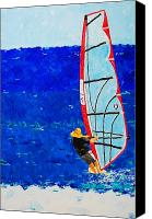 Beach  Wind Surfing Canvas Prints - Dreamer Disease III Canvas Print by Ralph Mantia Sr