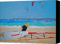 Wind Surfing Art Painting Canvas Prints - Dreamer Disease V Ponce Inlet  Canvas Print by Ralph Mantia Sr